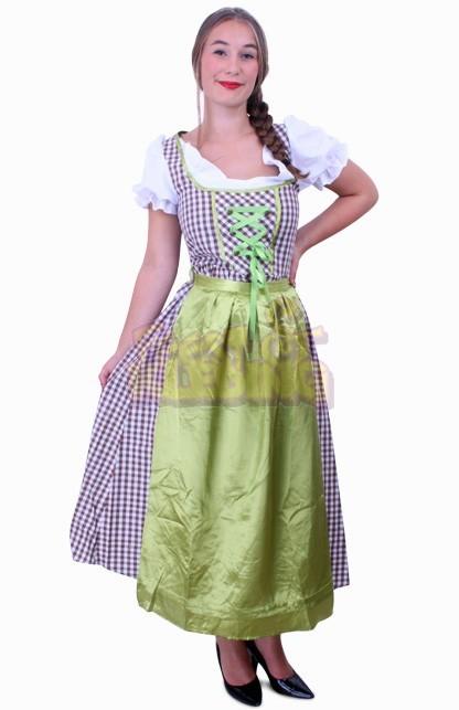 f16e6b7930b084 Tiroler jurk lang Wenzel bruin wit ☆ Groot aanbod van feestkleding ...
