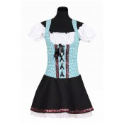 Tiroler Jurk Selina Turquoise-Zwart