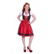 Dirndl Jurk Sarah Zwart-Rood