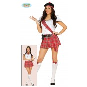 Schots Meisje of Schoolmeisje Kostuum