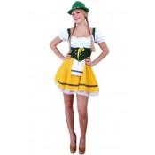 Tiroler jurkje Greetje Geel-Groen voordelig