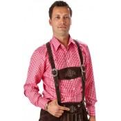 Rood geruite Tiroler blouse