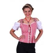 Tiroler Shirt Mia Rood-Wit
