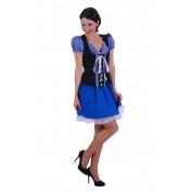 Tiroler jurkje blauw