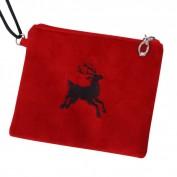 Tiroler tasje rood met hert