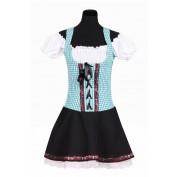Tiroler jurkje Turquoise zwart