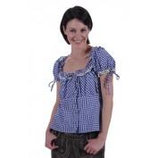 Tiroler geruite damesblouse Steffi, blauw