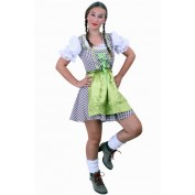 Tiroler jurk kort Wenzel bruin/wit
