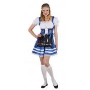 Sexy Tiroler jurk Helena blauw