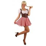 Tiroler jurk geruit