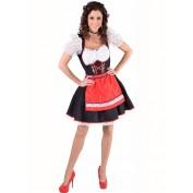 Tiroler jurk Salzburg rood