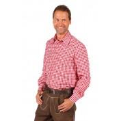 Tiroler geblokte blouse rood wit